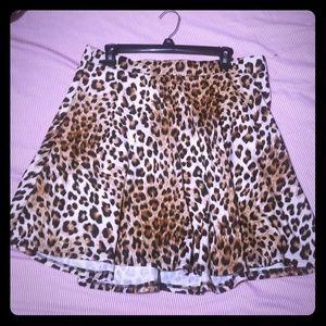Plus Size Leopard Circle Skirt